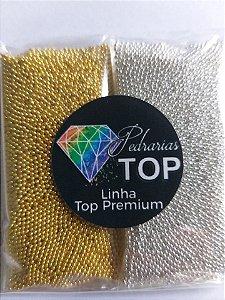 Atacadinho caviar metal dourado/ prata 1mm ( não mancha) - Aprox. 100g ( 50g de cada)