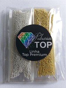 Atacadinho caviar metal dourado/prata 1mm ( não mancha) - Aprox. 30g ( 15g de cada cor)