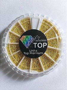 Disco caviar metal dourado - Aprox. 25g