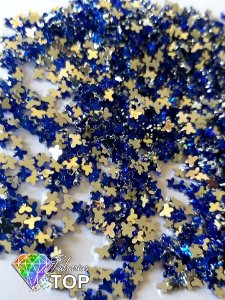 Borboleta azul bic 3mm - Aprox. 100 pcs