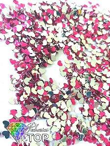 Coração rosa pink 2,5mm - Aprox. 100 pcs