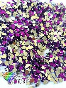 Coração roxo 2,5mm - Aprox. 100 pcs