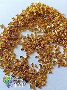 Lua para decoração dourado ouro 2x3 - Aprox. 100 pcs