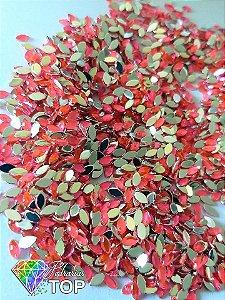 Navetinho rosa neon 2.3mm - Aprox. 100 pcs