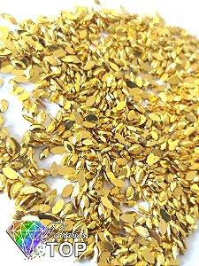 Navetinho dourado ouro 2.3mm - Aprox. 100 pcs