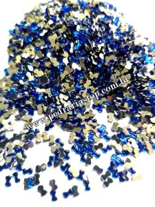 Lacinho para decoração de unhas azul - Aprox. 100 pcs