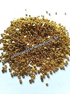 Redondo dourado 2mm - Aprox. 200pcs