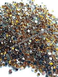 Pedra da lua dourada 2mm - Aprox. 200 pcs
