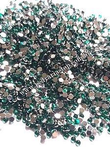 Pedra da lua verde 2mm - Aprox. 200 pcs