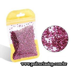 Pixel preciosa para decoração de unhas pink c/ aprox. 3 gramas