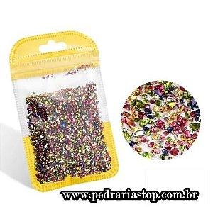 Pixel preciosa para decoração de unhas colorido c/ aprox. 3 gramas
