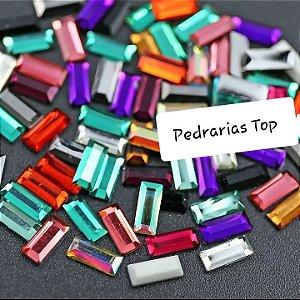 Retângulo mix de cores 7x3 - 30 pcs