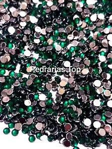 Chaton sextavado verde 3mm - Aprox. 50 pcs