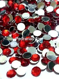 Chaton sextavado vermelho 6mm - Aprox. 40 pcs