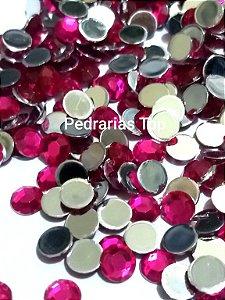 Chaton sextavado pink 6mm - Aprox. 40 pcs