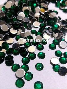 Chaton sextavado verde 6mm - Aprox. 40 pcs