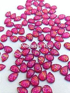 Pedra cabochão gota 4x6 c/ 20 pçs - Sereia pink