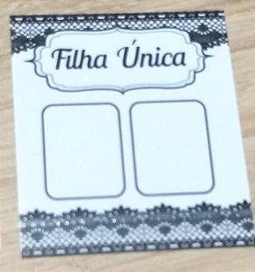 Cartão Filha Unica  c/  100 unidades Ref. 103 - Dispensa uso pasta L