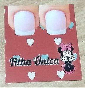 Cartão Filha Unica  c/  100 unidades Ref. 104  - Dispensa uso pasta L