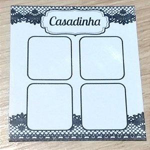 Cartão Casadinha  c/  100 unidades Ref.  - Dispensa uso pasta L