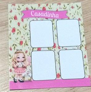 Cartão Casadinha  c/  100 unidades Ref. 113 - Dispensa uso pasta L