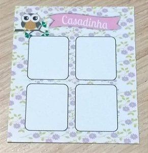 Cartão Casadinha  c/  100 unidades Ref. 114 - Dispensa uso pasta L
