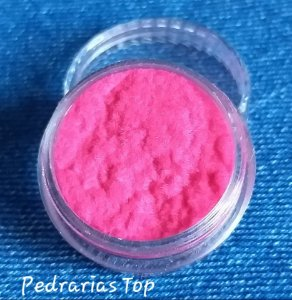Pó para decoração de unhas efeito camurça - Rosa Pink