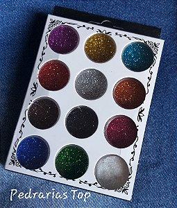Kit Glittler para unhas - 12 cores