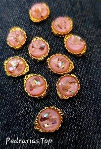 Jóias de luxo para unha c/2 pcs - Redondo rosa