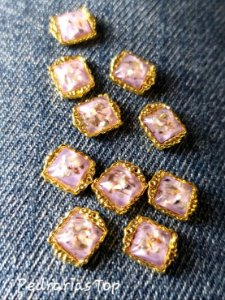 Jóias de luxo para unha c/2 pcs - Quadrado lilás