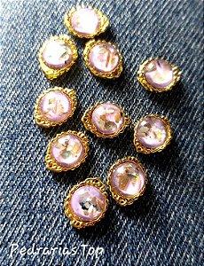 Jóias de luxo para unha c/2 pcs - Redondo lilás