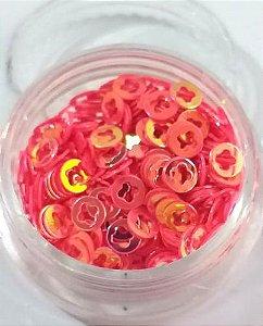Argola para decoração c/ potinho - Rosa AB