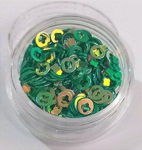 Argola para decoração c/ potinho - Verde AB