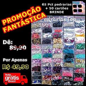 PROMOÇÃO FANTÁSTICA - 65 pcts de pedrarias + 50 cartões