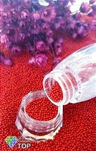 Caviar metal  vermelho 1mm  c/ 5 gramas