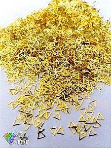 Metal para decoração triângulo c/ 50 unidades