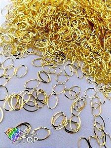 Metal para decoração oval c/ 50 unidades