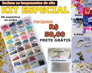 Promoção especial - 56 saquinhos de pedras + 100 cartões + 100 embalagens