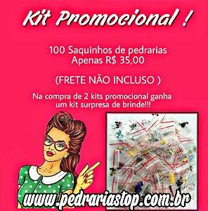 Kit promocional c/100 saquinhos - NA COMPRA DE 2 KITS DESSE LEVA DE BRINDE UM KIT SURPRESA