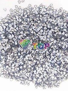 Chapinha coração branco 3mm - Aprox. 150 pçs