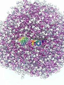Chapinha coração lilás 3mm - Aprox. 150 pçs