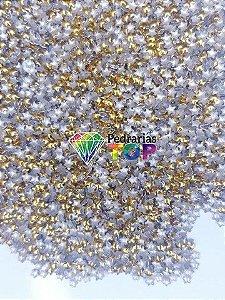 Chapinha estrela dourada 3mm - Aprox. 150 pçs