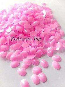 Chaton oval rivoli rosa 6x8 - Aprox. 30 pçs