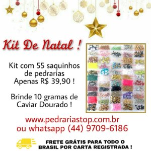 Kit de Natal Com 55 saquinhos + brinde 10 grs caviar metal