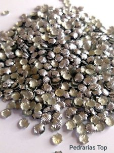 Formato concha prata 5mm - Aprox. 50 unidades