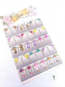 Cartelão de jóias prontas c/15 pares - Ref. 01