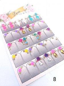 Cartelão de jóias prontas c/15 pares - Ref. 08