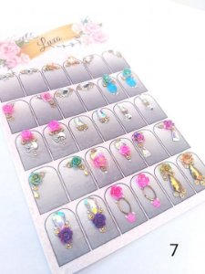 Cartelão de jóias prontas c/15 pares - Ref. 07