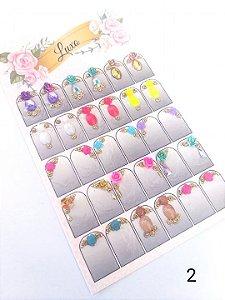 Cartelão de jóias prontas c/15 pares - Ref. 02