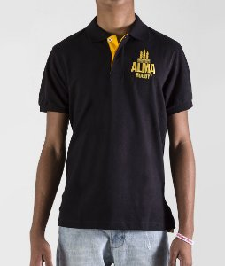 Camisa Polo Rugby Black & Gold by ALMA Rugby